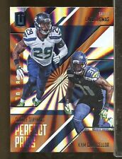2016 Unparalleled Perfect Pairs EARL THOMAS KAM CHANCELLOR Seahawks (FB17)