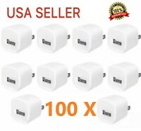 100x 1A USB Wall Charger Power Adapter AC Home Plug for Apple Samsung universal
