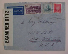 FRANCE  BERMUDA CENSOR COVER 1942 TO USA RHONE