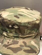 Us Military Multicam Ocp Camouflage Patrol Cap Hat Size 7-1/8 With Name tape