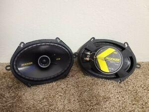 Kicker CS 40cs584 6in x 8 in Coaxial Car Speakers