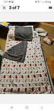 Kindermat nap mat Cover Set-grey Bears with pillow case, blanket& cover