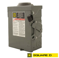 Square D DU322RB 60A 240VAC Unfused Disconnect 3 Pole for Solar Panel PV Arrays