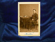 THOMAS EDISON Inventor Genius Cabinet Card Photograph Vintage Reprint CDV