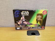 Kenner Star Wars Power of the Force Speeder Bike with Luke Skywalker, New!