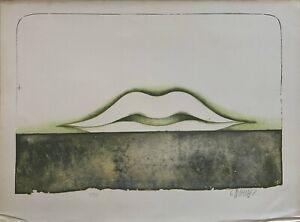 Bruno Bruni litografia con battuta orizzonte  60x45 firmato numerato '68