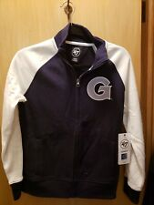 NWT 47 Brand NCAA Women's Size Small Georgetown Full Zip Mock Collar Sweatshirt