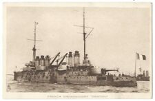 BATTLESHIP French Navy Dreadnought, Danton, Old Postcard by Tuck, Unused