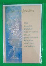 HORN Konfirmationskarte Weinrebe über einem Kelch, 5 Stück