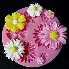 3D Daisy Flower Shape Fondant Mold Silicone Sugarcraft Cake Decorating Mould DIY