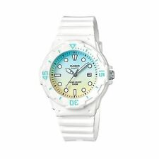 LRW-200H-2E2 White Casio Ladies Watches 100M Date Display Analog Brand-New