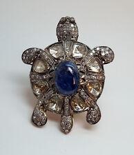 SILVER/GOLD DIAMOND Turtle Ring -  r8102