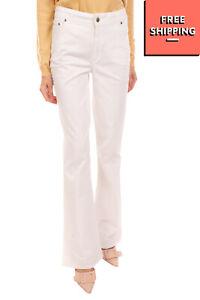 RRP €340 BLUGIRL BLUMARINE Trousers Size 42 / S Stretch Zip Fly Bootcut Leg