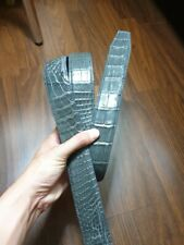 NO JOINTED GENUINE CROCODILE S BALLY LEATHER SKIN MEN'S BELTS 3.5cm width