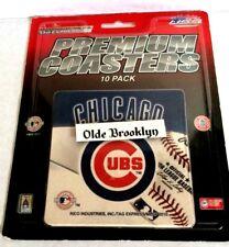 Chicago Cubs Premium Beer Coasters - Rico Industries - 10 Pack - Mlb