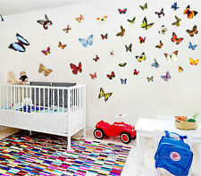 Colorful butterfly 81pcs wall decals Removable stickers home decor kids nursery