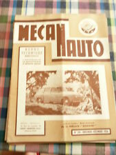 Revue mecanauto de 1956  N° 34 la fregate domaine