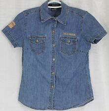 HD Harley Davidson Denim Shirt Woman Sz Small Classic Button up Short Sleeve