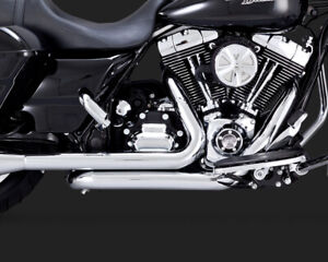 Chrome Dresser Duals Head Pipes ONLY VaH. 16752 For 09-16 Harley Touring