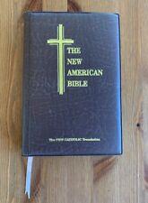The New American Bible Brown Padded HC 1992 New Catholic Translation Thumb Index