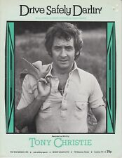Drive Safely Darlin' - Tony Christie - 1975 Sheet Music