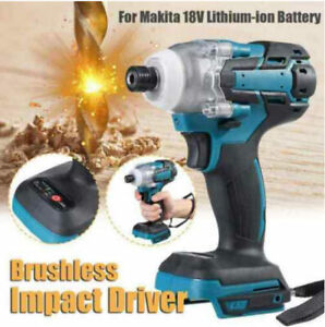 18V Cordless Impact Wrench Brushless Driver Torque Replace w/ Charger + Battery