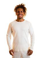 100% Natural Organic Cotton Long Sleeve Vegan Men's Shirt Certified T-Shirt XL