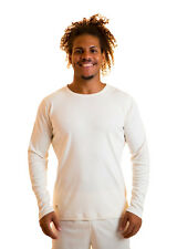 100% Natural Pure Organic Cotton Mens Long Sleeved Shirt Medium Vegan Clothing