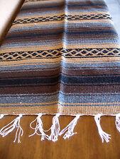 True Grit Falsa Onwt-Tan/Brown Southwest Southwestern Serape Blanket Afghan