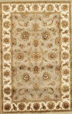 Pasargad Agra Traditional Oriental Hand-Knotted Silk & Wool Area Rug- 4x6