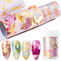 Marble Nail Art Foil Transfer Stickers 3D Nails Decoration Transfer Sticker ~ly