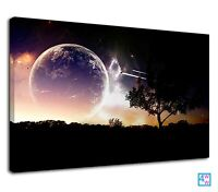 Amazing Universe From Planet Earth Digital Art Canvas Print Wall Art Picture