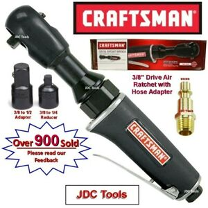 "CRAFTSMAN 3/8"" Drive Air Ratchet Wrench w 1/4"" and 1/2"" Adapters ""3 Tools in 1"""