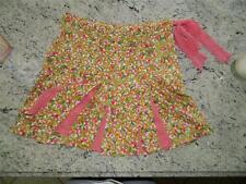 DVF Diane von Furstenberg Floral Cotton/Silk Kick Pleat Mini Skirt w/tie, Size 4