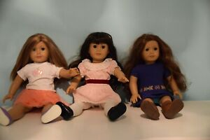 american girl doll accessories lot + clothes and 3 dolls