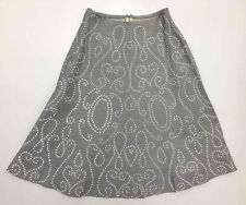 SARTORIA VINTAGE '60 Gonna Donna Antica Lino Linen Flax Woman Skirt Sz.S - 40
