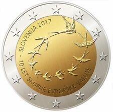 """SLOVENIE SPECIALE 2 EURO 2017 UNC:  """"10 JAAR EURO IN SLOVENIE"""""""