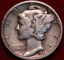 1931-S San Francisco Mint Silver Mercury Dime