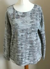 See U Soon Size S/M, Ladies Grey Top With Multicoloured Print