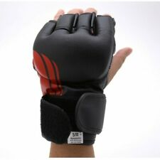 MMA Fight Gloves MMA Gloves MMA Vinyl Fight Glove BLACK & RED-New