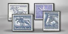 Echte Briefmarken aus dem deutschen Reich mit Postfrisch und Pferde