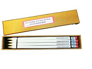 CRACKERJACK PENCILS -  4 IN A PRESENTATION BOX