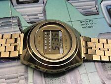 04-506 Rare CASIO Casiotron 1975 Digital LCD Quartz watch uhr MOT