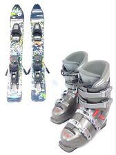 SNOWBLADE PACKAGE, New 75cm Snow Jam Ski Blades, Used Ski Bindings, used boots