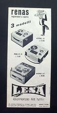 F404 - Advertising Pubblicità - 1963 - LESA RENAS REGISTRATORI A NASTRO