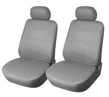 Leather like Two Front Car Seat Covers For Toyota 159 Gray