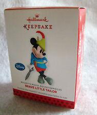 "New HALLMARK Disney Mickey's Movie Mouseterpiece Brave Little Tailor 3"" Ornament"