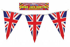 Union Jack Triangle Bunting 125 Flags GB Olympic Royal 115ft Long Red White Blue