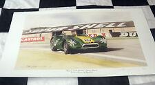 Lister jaguar archie scott brown goodwood VPP9 1958 new painting print art dugan