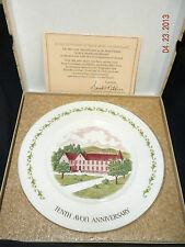 "Avon Tenth Anniversary Plate ""The California Perfume Company"""